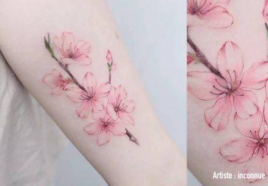 La symbolique des tatouages : Fleur de cerisier