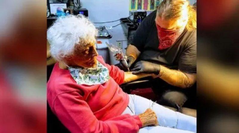 À 103 ans, elle réalise son rêve en se faisant tatouer