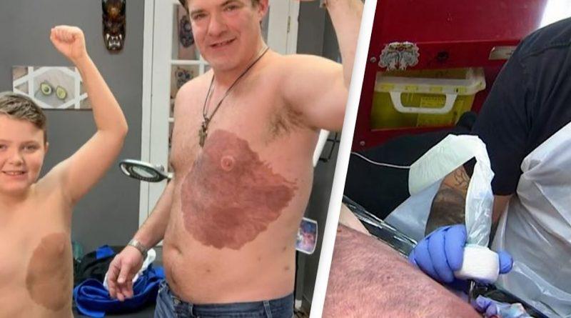 tatouage père fils tache de naissance tatouage