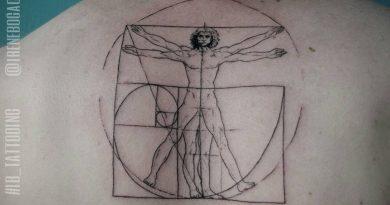 La symbolique des tatouages : Homme de Vitruve