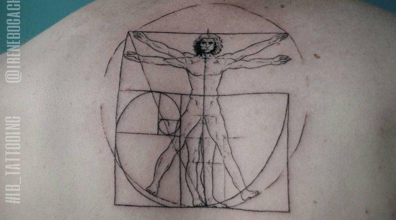 La symbolique des tatouages : Homme de Vitruve - What's up Tattoo