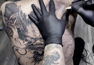 Dragon Tattoo full back - AMAZING freehand tattoo skill | Trung Tadashi | Tadashi Tattoo